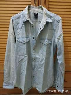 H&M denim washed shirt's