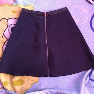 Zalora Dark Blue Skater Skirt