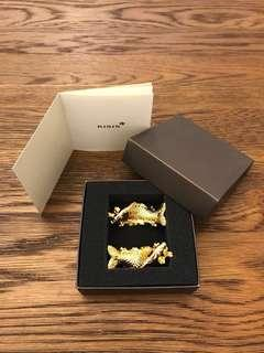 RISIS 24K Gold plated Carp chopstick holders