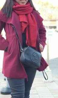 Wool coat  wine red