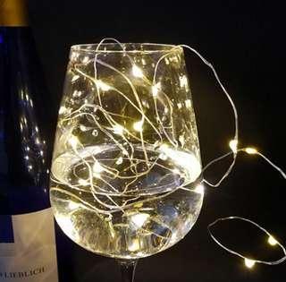 Brand New💕30 pcs LED button string light / fairy string light / battery powered copper string/ home decoration string light.