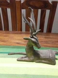 Solid Bronze Raindeer Figurine