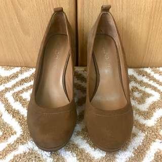 Aldo Brown Suede Wedge Shoes