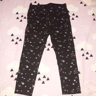 h&m legging star size 2-3 years