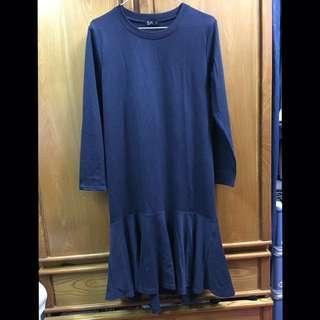 NET深藍魚尾洋裝