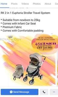 Royal kiddy stroller & car seat