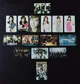 SNSD/SHINee EZ-Link Card Stickers