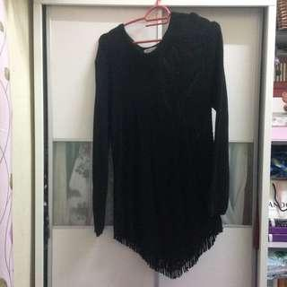 knitted black top #XMAS25