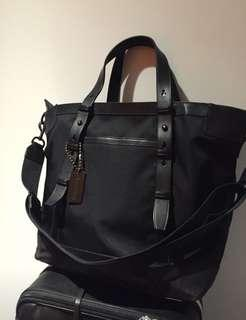 Authentic COACH Leather Trim Messenger Sling Bag
