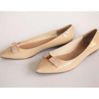 Kurt Geiger Nude Ballerina Flats UK Size 5.5 and 6.5