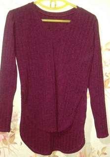 V-neck/Long back Sweater
