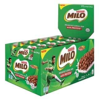 NESTLE Milo Breakfast Cereal Bar, 24 Bars