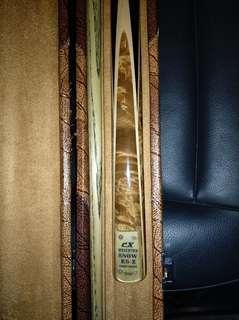 CX handmade snooker cue.