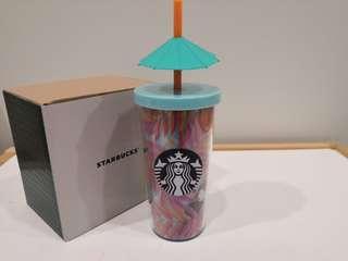 Starbucks Summer Toucan Bird with Umbrella 12oz Tumbler