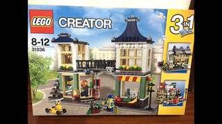 LEGO Creator 31036 Toy and Grocery Shop, 3-in-1 Building Toy Set