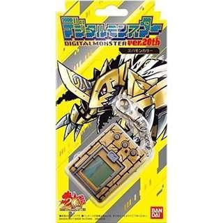 Digimon 20th Anniversary Zubamon Gold Digivice