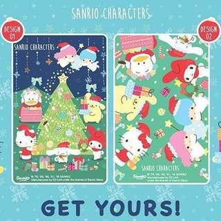 🚚 Brand new ez link card Xmas Sanrio my Melody hello kitty little twin stars Pom Pom purin cinnamon roll