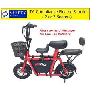 Fiido Scooter LTA Compliance 2 or 3 Seats