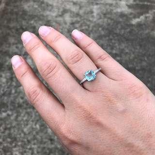 Sugar light blue ring
