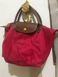 Longchamp Red (ASLI bukan KW dan tidak pakai KW)