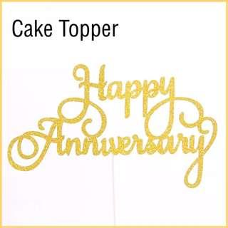 🎂 HAPPY ANNIVERSARY CAKE TOPPER