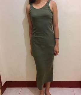 Long spag dress