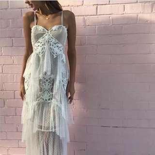 PREORDER White Elegant Tulle Dress