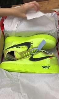 Off white Air force 1 VOLT US10.5