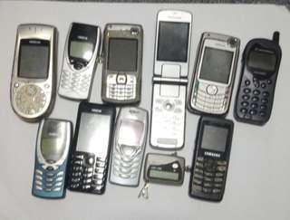 Old mobile phones *spoilt*