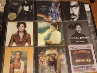 Janet Jackson, Whitney Houston, Michael Jackson, George Michael, Phil Collins & Lionel Richie 歐美CD (議價)