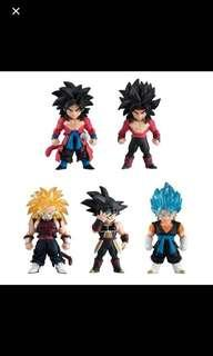 Brand new super dragonball dragon ball heroes adverge full set of 5 for cheap sale!