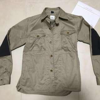 Ts(s) jacket size2 khaki patch ( engineer garment)