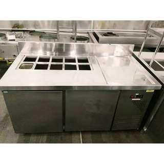 STAINLESS STEEL COUNTER CHILLER WITH SALAD BAR