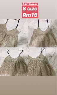 2 in 1 blouse + Lace