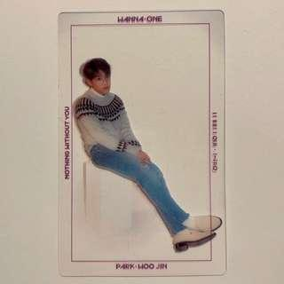 [KPOP] Wanna One Nothing Without You (One Ver.) Woojin Transparent Photocard