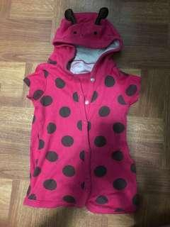 Lady bug onesie