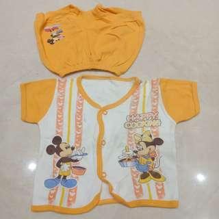 Setelan Bayi Mickey Minnie Orange