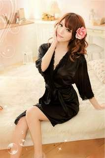 Lingerie Kimono Import High Quality SS1096BK
