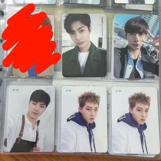 [wts] monsta x photocards pc