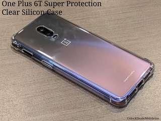 🚚 One Plus 6T Super Protection Clear Silicon Case