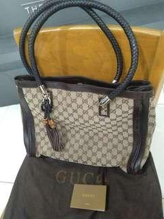 Authentic Gucci Tote bag with Bamboo Tassel
