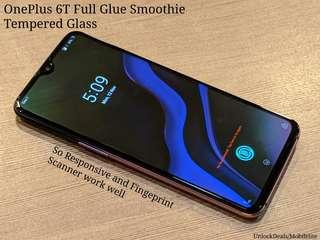 🚚 One Plus 6T Full Glue Smoothie Tempered Glass