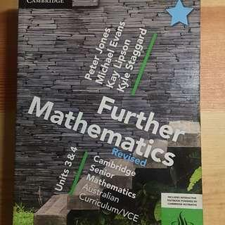 Cambridge Further Maths textbook 3 & 4 + Cambridge Checkpoints