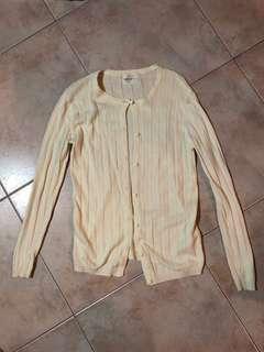 beige/off-white cardigan