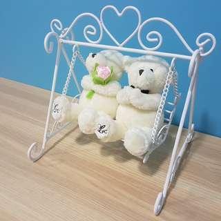 Love & Co. Wedding Bears (comes with swing & box)
