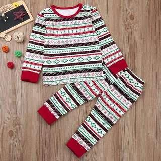 Boy - Christmas print pajamas set