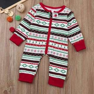 Christmas print baby suit