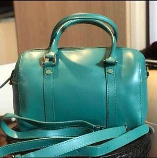 Agnes b 湖水綠 Turquoise handbag