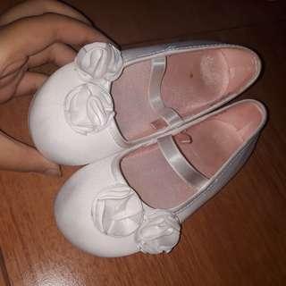 ballerina white flatshoes h&m