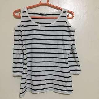Cold-shoulder blouse